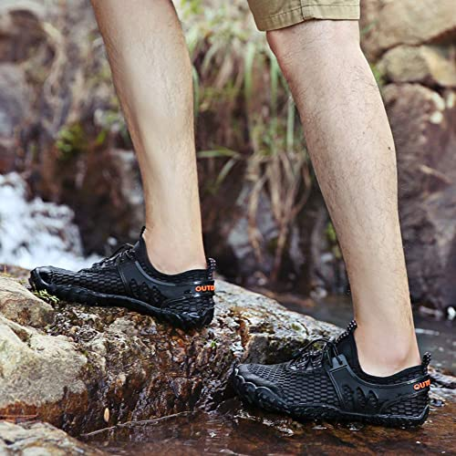 PACJOY Men/'s Water Shoes Quick Dry Outdoor Barefoot for Swimming Diving Surfing Aqua Sports Pool Beach Walking Yoga