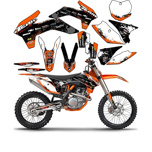 Team Racing Graphics kit compatible with Honda 2002-2004 CRF 450R SCATTER