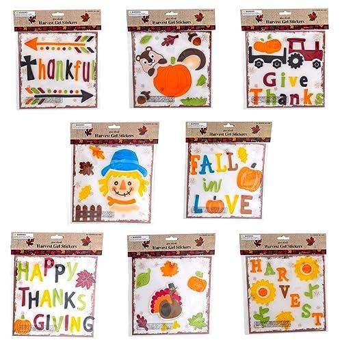 Buy Thanksgiving Fall Gel Sticker Window Clings Bundle Of 8 Packages Online In Uganda B074zr2kcg