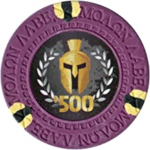 Choose Colors Pack of 50 Versa Games Spartan Clay Poker Chips in 13.5g Weight