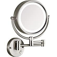 Dowry Makeup Mirror Wall Mount Lighted With 10x Magnification 8inch Plug Powered Brush Nickel Bathroom Mirror 09n Buy Products Online With Ubuy Uganda In Affordable Prices B07sqywd2d